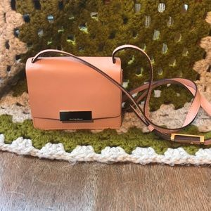 Isaac Mizrahi Leather Pink Whitney Shoulder Bag